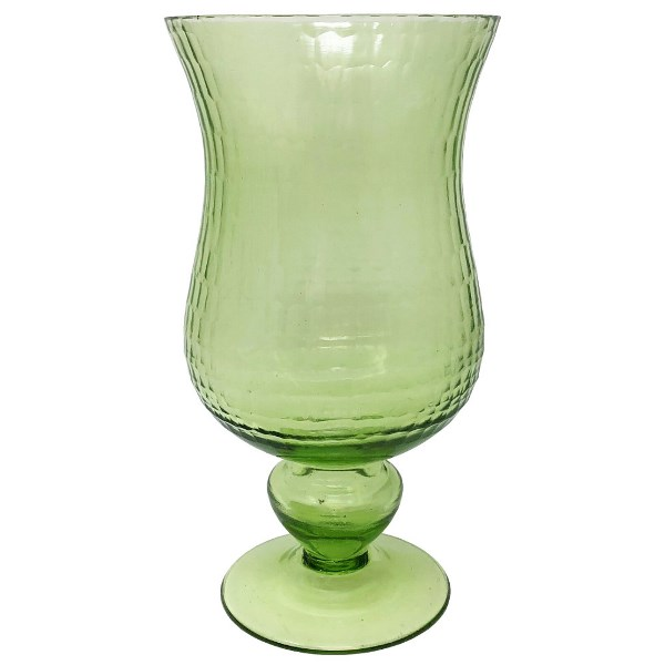 Small Glass Hurricane Candle Holder Chartruese