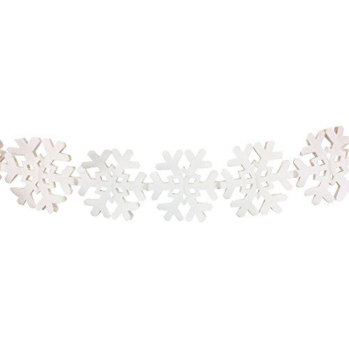 Snowflake Expandable Tissue Paper Garland Party Streamers (6 Pack, White) - Premier