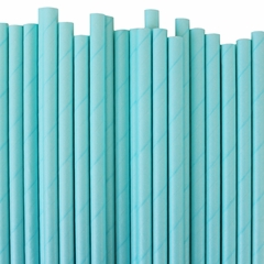 Solid Color Paper Straws