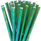 Solid Paper Straws 25pcs Iridescent Mermaid Green
