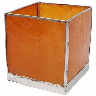 Square Capiz Candle Holder Mango and Silver Luana