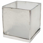 Square Capiz Candle Holder White and Silver Luana