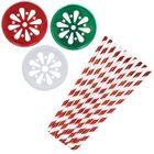 Stocking Stuffer Mason Jar Beverage Kit 12pcs Lids 25pcs Paper Straws -Premier