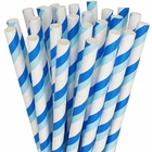 Striped Paper Straws 25pcs Blue & Aqua