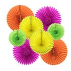 Summer Sorbet Pinwheel and Tissue Fan Decorating Kit 8pcs