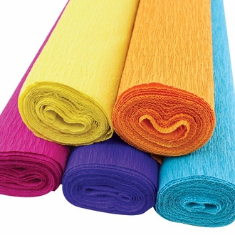 Summer Time Assorted Crepe Paper Roll Package 5pcs