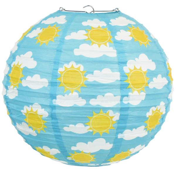 Sunny Skies and Puffy Clouds 12inch Paper Lantern