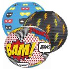 Super Hero 3pcs 12inch Paper Lantern Party Kit