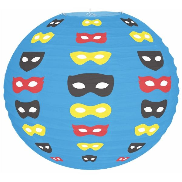 Super Hero Blue Masks 12inch Paper Lantern