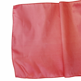 CLEARANCE Taffeta Table Runner Coral Pink