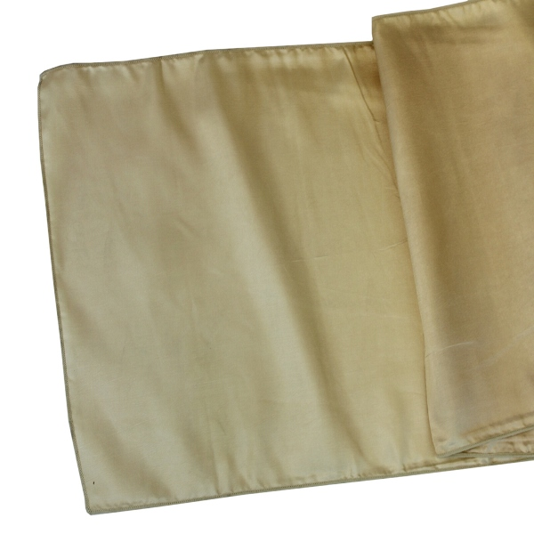 Taffeta Table Runner Gilt Gold