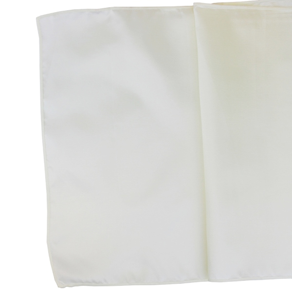 CLEARANCE Taffeta Table Runner Ivory