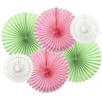 Tea Time Pinwheel and Tissue Fan Decorating Kit 6pcs