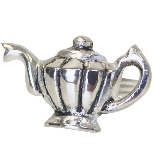 CLEARANCE Teapot Napkin Ring Silver