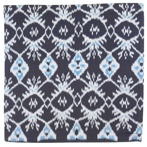 CLEARANCE Throw Pillow Cover Black Citra Ikat