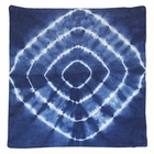 CLEARANCE Throw Pillow Cover Indigo Blue Radiate Shibori