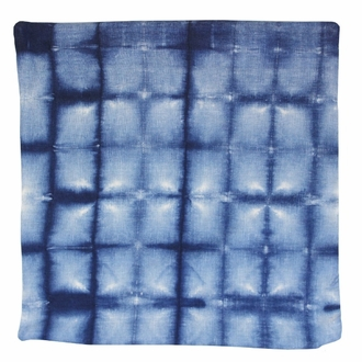 Throw Pillow Cover Indigo Blue Shadows Shibori