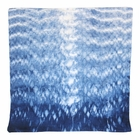 CLEARANCE Throw Pillow Cover Indigo Currents Shibori