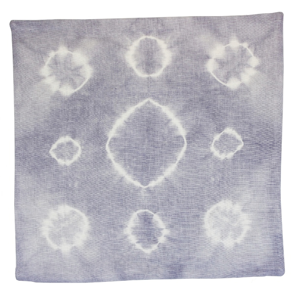 Throw Pillow Cover Lilac Grey Haloes Shibori