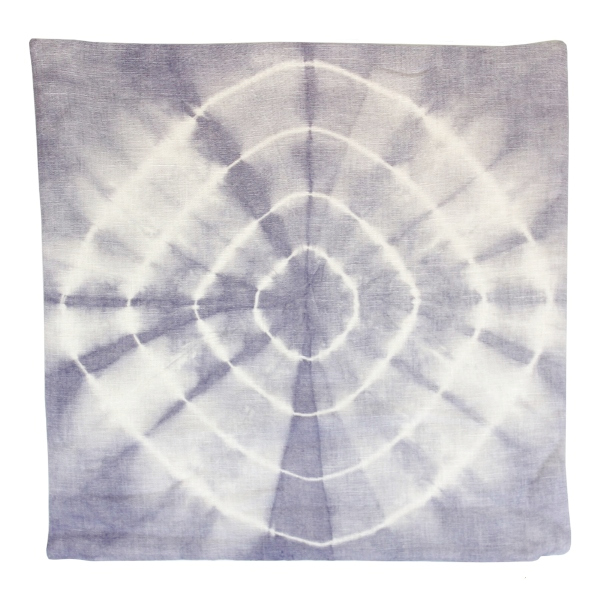 CLEARANCE Throw Pillow Cover Lilac Grey Radiate Shibori