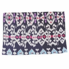 CLEARANCE Throw Pillow Cover Rectangle Dark Blue Aini Ikat