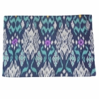 Throw Pillow Cover Rectangle Navy Blue Ladee Ikat