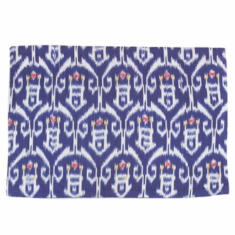 Throw Pillow Cover Rectangle Navy Blue Riana
