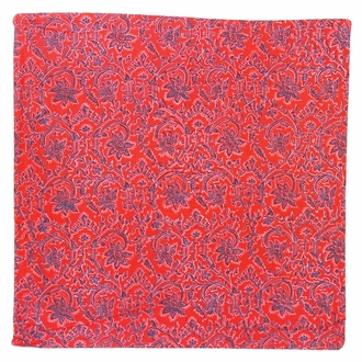 Throw Pillow Cover Rectangle Scarlet Red Dira Ikat