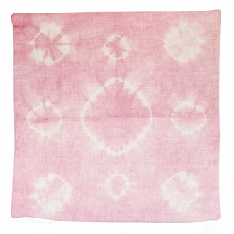 Throw Pillow Cover Rose Quartz Haloes Shibori