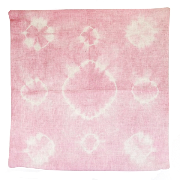 CLEARANCE Throw Pillow Cover Rose Quartz Haloes Shibori