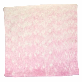 CLEARANCE Throw Pillow Cover Rose Quartz Pink Currents Shibori