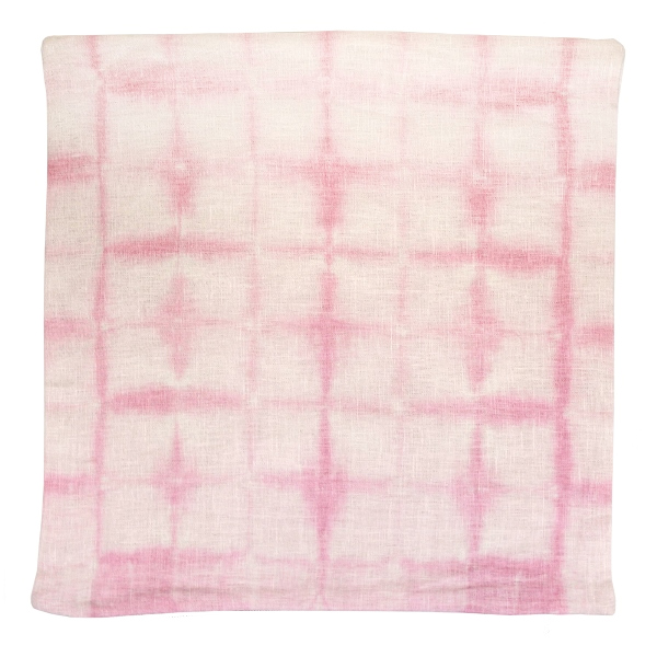 CLEARANCE Throw Pillow Cover Rose Quartz Shadows Shibori