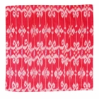 CLEARANCE Throw Pillow Cover Square Scarlet Red Dira Ikat
