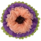 "Tissue Paper Flower 18"" Petunia Peach Chocolate"