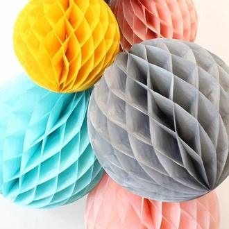 Tissue Paper Honeycomb Ball 12inch Grey