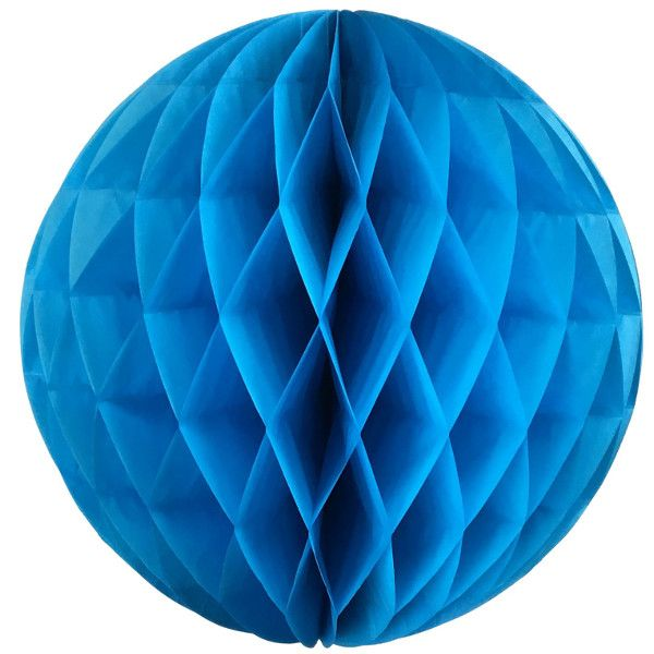 Tissue Paper Honeycomb Ball 14inch Azure Blue