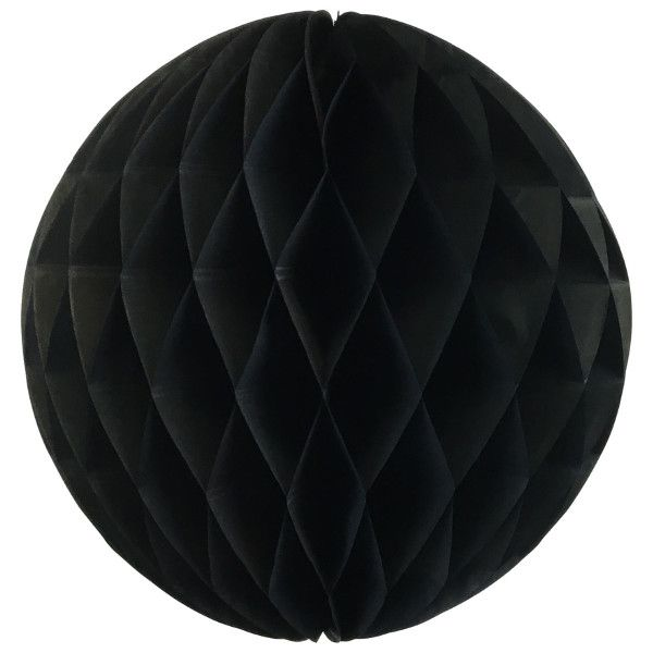 Tissue Paper Honeycomb Ball 14inch Black