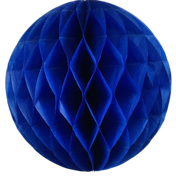 Tissue Paper Honeycomb Ball 14inch Blueberry