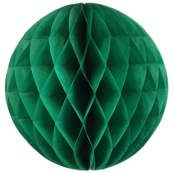 Tissue Paper Honeycomb Ball 14inch Emerald Green