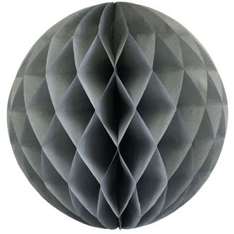Tissue Paper Honeycomb Ball 14inch Grey