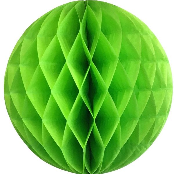 Tissue Paper Honeycomb Ball 14inch Kiwi Green