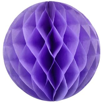 Tissue Paper Honeycomb Ball 14inch Lilac