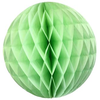 Tissue Paper Honeycomb Ball 14inch Mint
