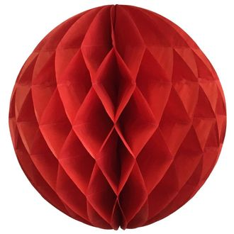 Tissue Paper Honeycomb Ball 14inch Red