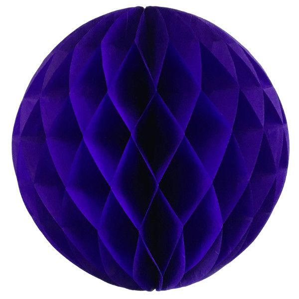 Tissue Paper Honeycomb Ball 14inch Royal Purple