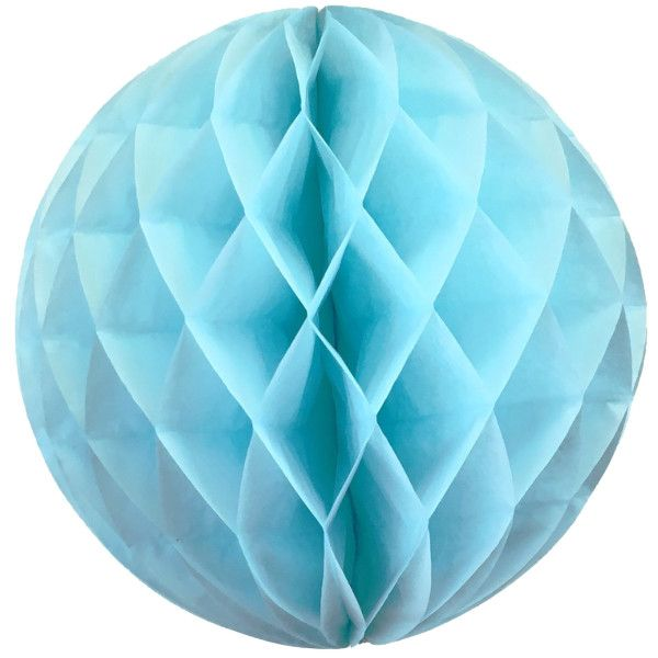 Tissue Paper Honeycomb Ball 14inch Sky blue