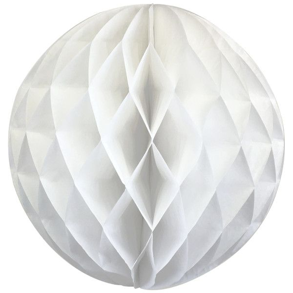 Tissue Paper Honeycomb Ball 14inch White