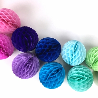 Tissue Paper Honeycomb Ball 6inch Blueberry