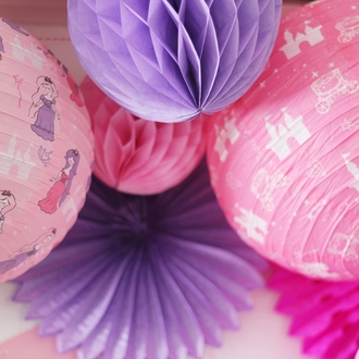 Tissue Paper Honeycomb Ball 8inch Lilac
