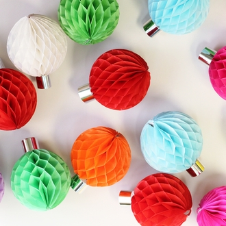 Tissue Paper Honeycomb Ball 8inch Mint